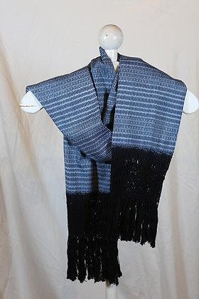 Black, Blue & Grey with Black Fringe