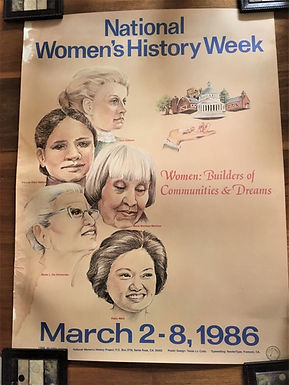 Hernández appeared in a 1986 poster (National Women's History Project, Santa Rosa, California).