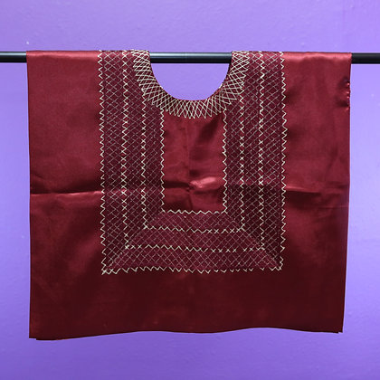 Maroon w/ Simple Chain Emroidered