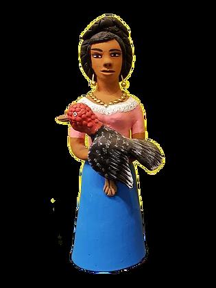 Market Woman holding turkey