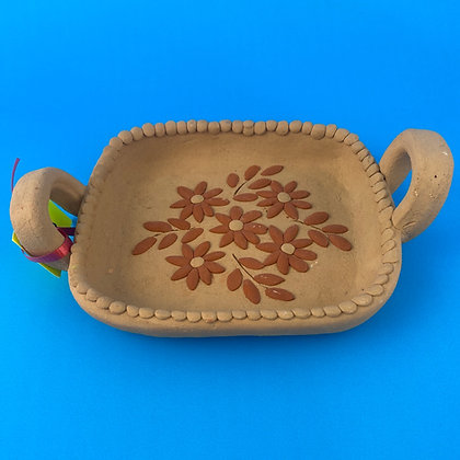 Small Clay Tray w/ Flowers