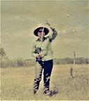 Olivia Sánchez Zamarripa, on one of her many fishing outings,  undated