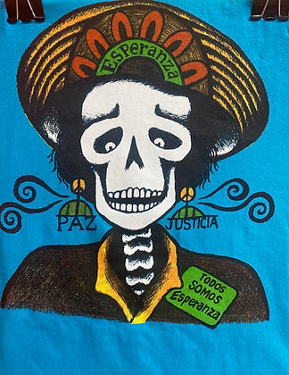 Calavera by Mary Agnes Rodriguez - Turquoise