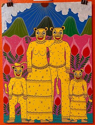 Painting - Jaguar Family