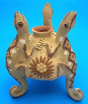 Clay Vessel w/ Lizards