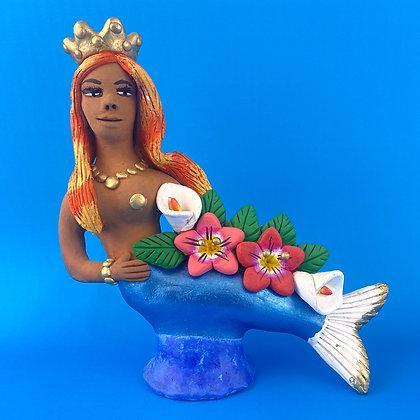 Mermaid with Flowers