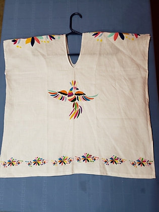 La Red Linen Blouse w/ Otomi Embroidery