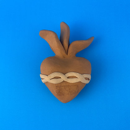 Small Hanging Clay Sacred Heart