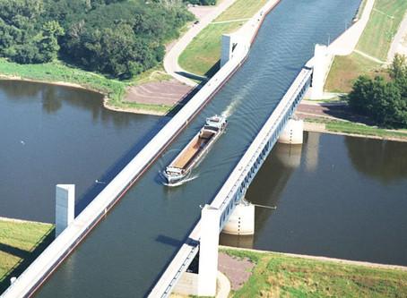 Cruzamento de Canais Fluviais de Magdeburgo - Alemanha