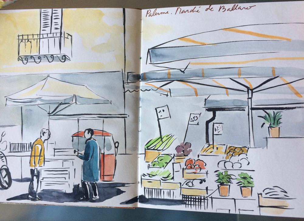 Palerme, marché du Ballaro