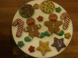 Christmas Cookie Display