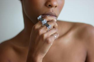 Jewelry and Photography: Christina Chivone Model: Faith Newton  Materials: Acrylic Brass  Steel