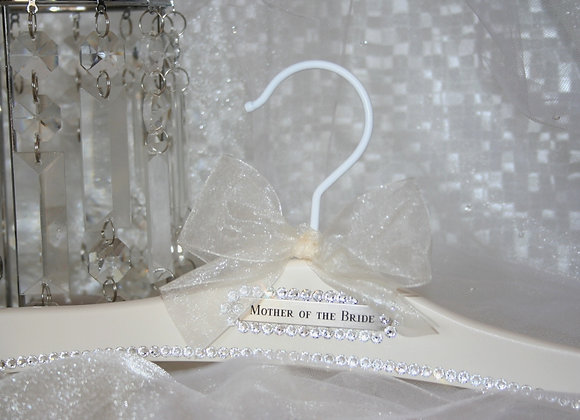 """Mother of the Bride/Groom"" with Personalized Back Nameplate"