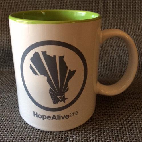 HA268 Mug : White/Green