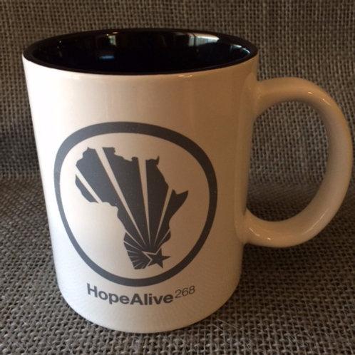 HA268 Mug : White/Black