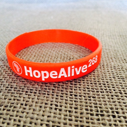 Anti-Trafficking Silicone Wristband : Red