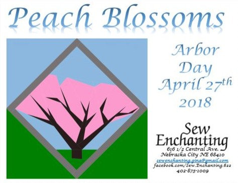Peach  Blossoms Pattern - Arbor Day 2018