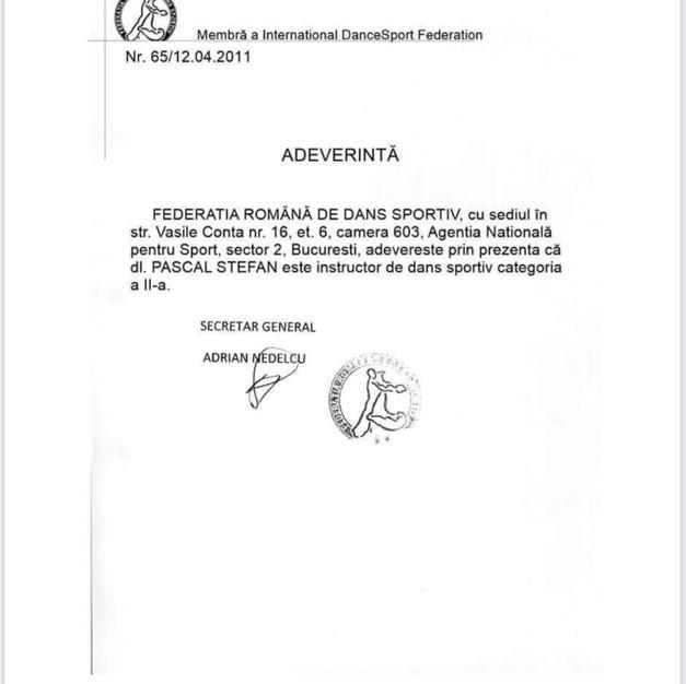 Romanian Dance Certification