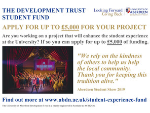 Applications invited for the 'Development Trust Student Fund'