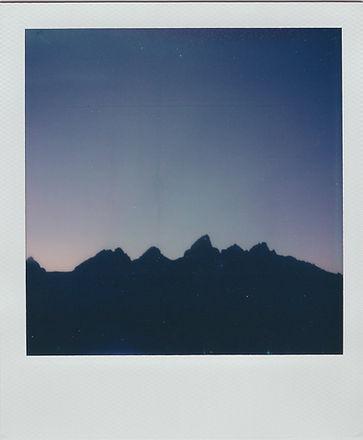 Polaroid photo of Grand Teton National Park Wyoming