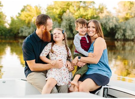 Ogden Utah Waterskiing Family Session | Lundell Family