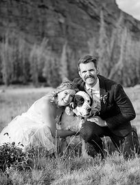Utah Elopement in Uinta National Forest with their dog