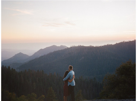 Engagement Photo shoot at Sequoia National Park, California | Cayne and Anne