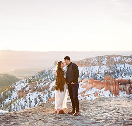 couples anniversary photo shoot on film at inspiration point in Bryce Canyon National Park