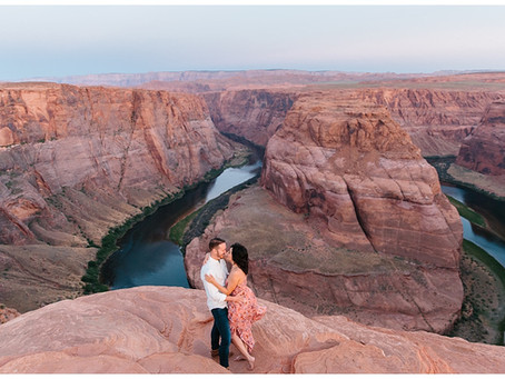 Page Arizona Horseshoe Bend Sunrise Adventure Session | Rob and Marisa