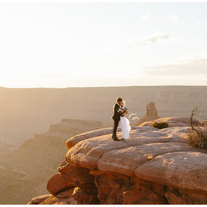 Moab, Utah Elopement at Dead Horse Point State Park   Emily and Will