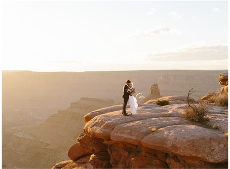 Moab, Utah Elopement at Dead Horse Point State Park | Emily and Will