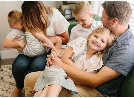 Saratoga Springs In Home Family Session | Poulsen Family