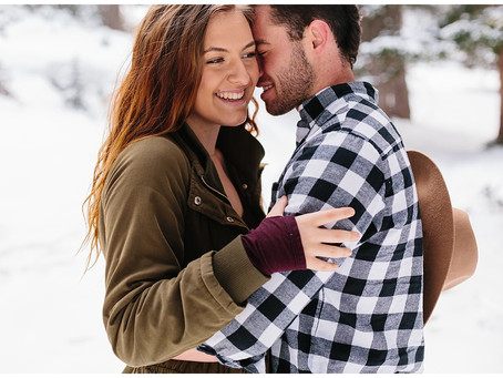 Big Cottonwood Canyon, Utah Couples Winter Session | Mckenzie + Donny