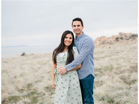 Antelope Island State Park, Utah Pregnancy Announcement | Marysa and Blake