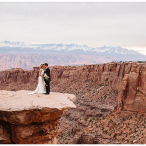 Moab Utah Cliffside Adventure Elopement   Terry and Gabby