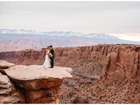 Moab Utah Cliffside Adventure Elopement | Terry and Gabby