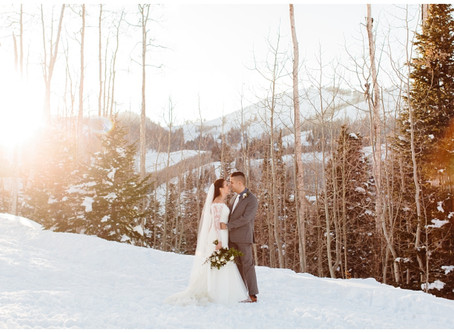 Park City, Utah Winter Elopement | Carson and Elizabeth