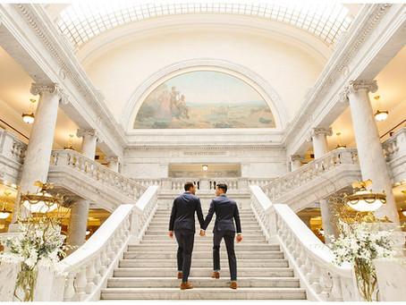 Utah State Capitol Wedding in Salt Lake City | Mike and Dan