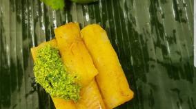 Patra Ni Macchi   Fish steamed in a banana leaf