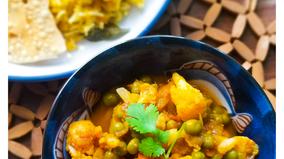 Cauliflower- Peas Masala