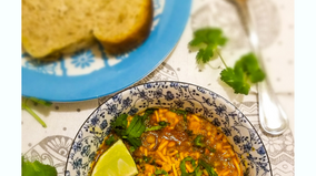 Sprouted Horsegram Curry- Misal Pav