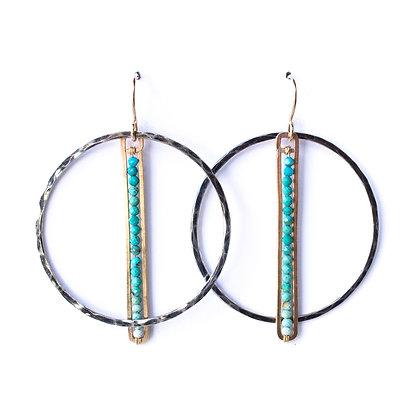 Ombre Turquoise Pendulum Earrings