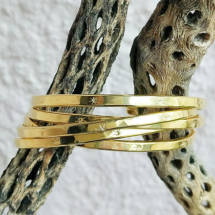 Stamped Brass Cuff