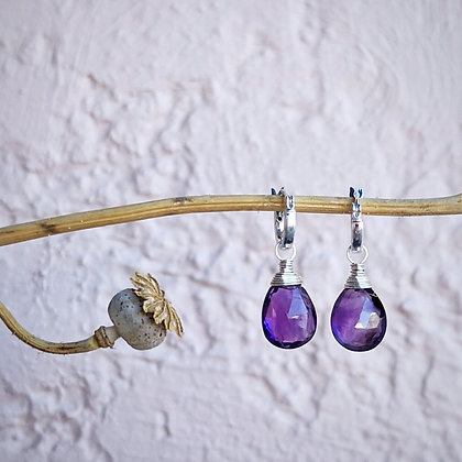 Elegant Amethyst Drop Earrings