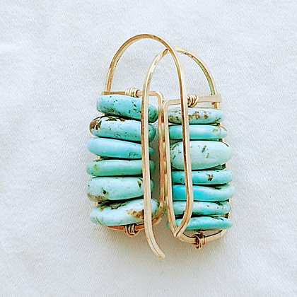 Bright Blue Natural Turquoise Earrings
