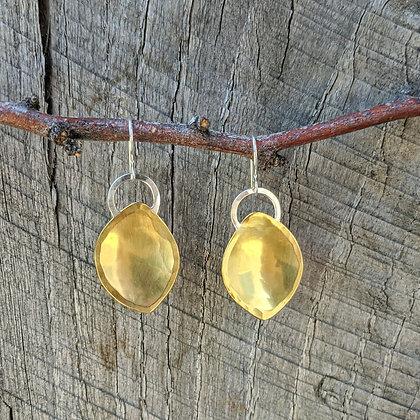 Gibbous Moon Earrings