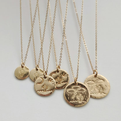 Monsoon Saguaro Stamped Necklace