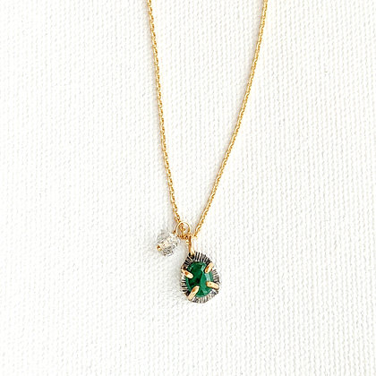Prong Set Emerald Necklace