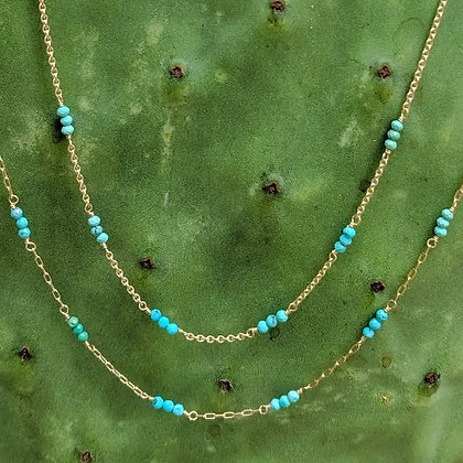Turquoise Dotted  Necklace