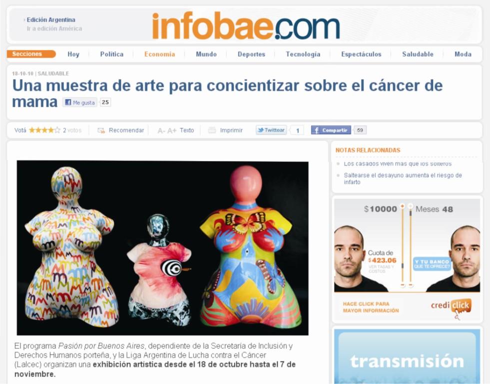 InfoBae, 2010.